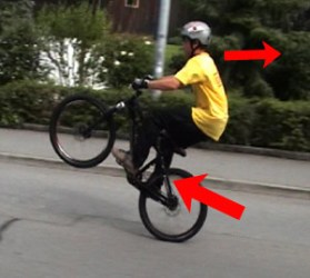 mtb manual hinterrad fahren