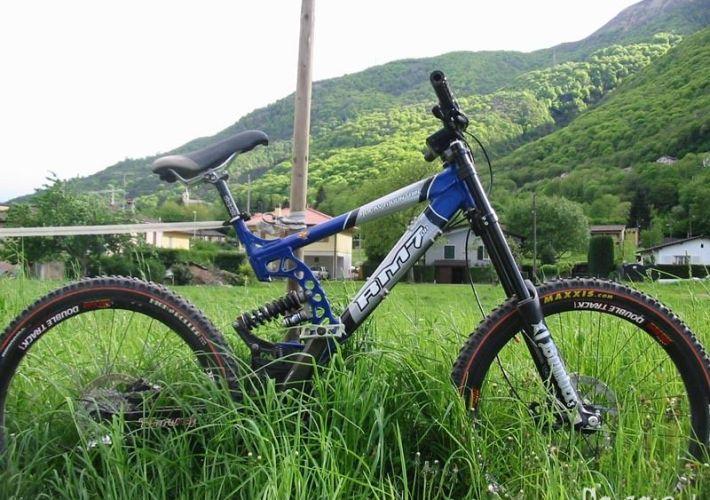 rocky mountain rm7 downhill bike blau