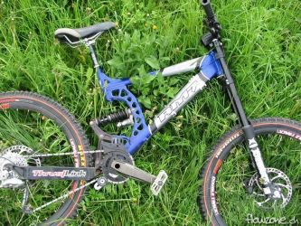 rocky mountain rm7 downhill freeride bike blau