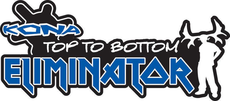 Kona Top to Bottom Eliminator Downhill Logo
