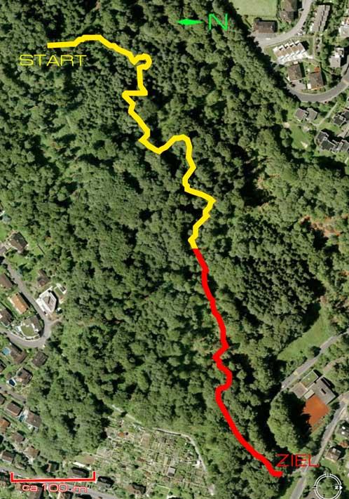 Guetschwald Streckenfuehrung