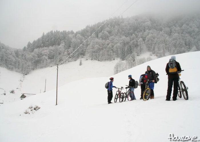 Biken im Schnee - Snowbiken