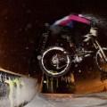 Snow Bike Downhill Night Mörlialp 2012