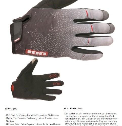ion-bike-handschuh-wisp-grau