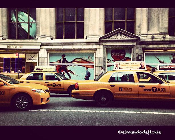 Taxis sobre la 5ta Avenida