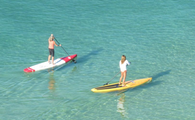 Paddle Boarding in the Gulf of Mexico