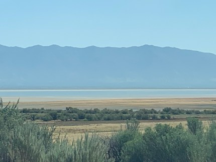 Antelope Island from the car. Drive-by photography © Scott McFarlane