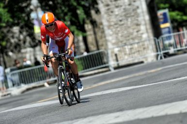 Perry leads the winning move on Stage 4. ©Brian Hodes / VeloImages