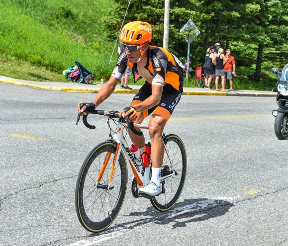 The heat took its toll early... and often. pic by Rob Jones / canadiancyclist.com