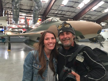 Meghan Marum, Communications Director of the Pima Air and Space Museum with Brian Hodes