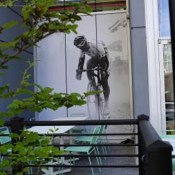 Svein Tuft gets a nod on the exterior of the Musette Caffé