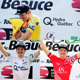 PA won the yellow, white (points) and red (young rider) jerseys ©VeloImages