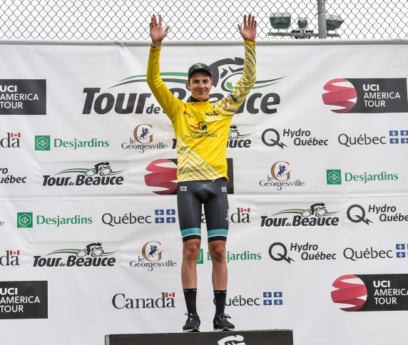 Nick dons Yellow © canadiancyclist.com