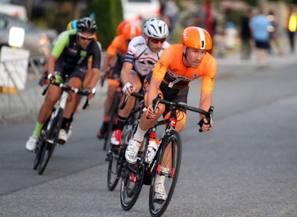 Ryan ROTH (Silber Pro Cycling) leads the winning break at the Tour de Delta MK Delta Criterium