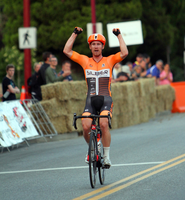 Ryan ROTH (Silber Pro Cycling) solos to victory at the Tour de Delta MK Delta Criterium
