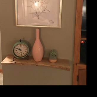 Spalted maple floating shelf installed by an Etsy customer
