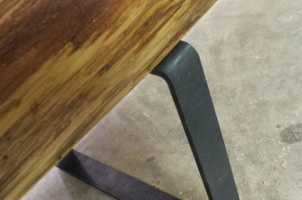 Square Metal Bench Legs, detail