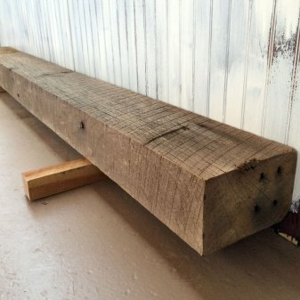 Roughsawn Barn Beam Mantel