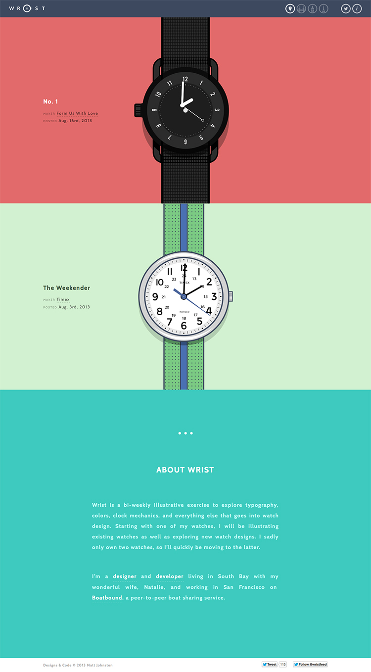 Wrist | A bi-weekly illustrative exercise by Matt Johnston in making new and old watches come to life