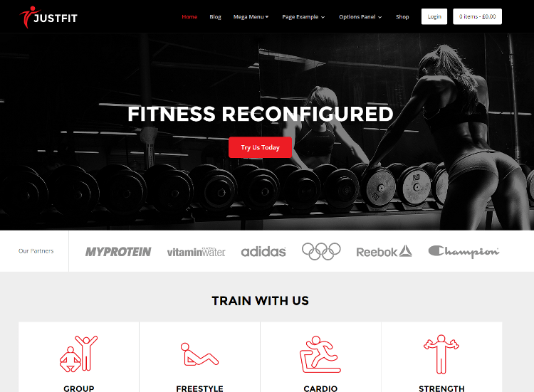 JustFit-theme