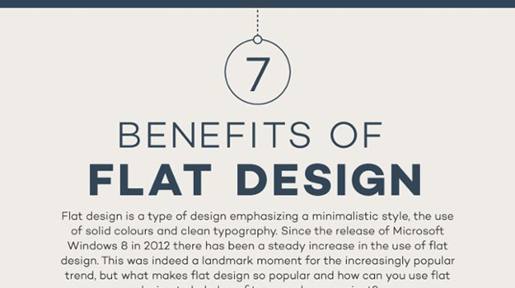 7 Benefits of Flat Design Infographic