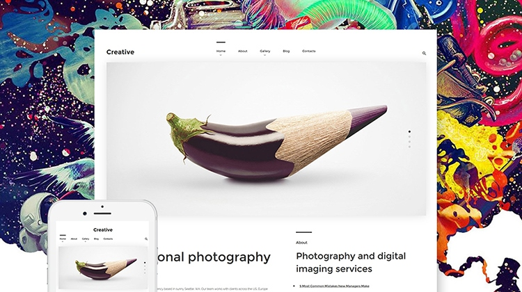 10 Awesome Flat Photography WordPress Themes