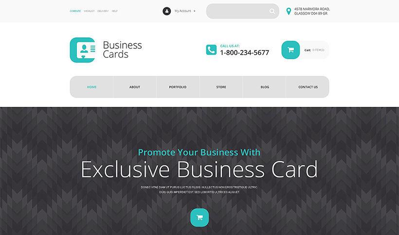 flat business cards design template