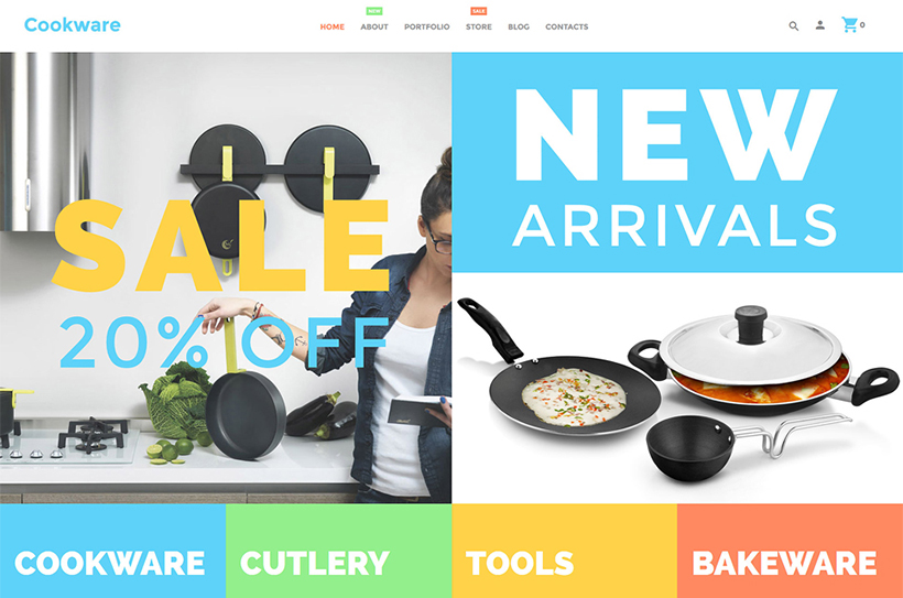 Kitchen utensils woocommerce flat design