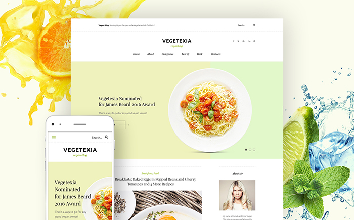 Top 20 Flat Food WordPress Themes