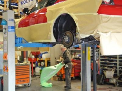 Fotoverslag Fluid Film behandeling aan een 'jonge' Mazda R3