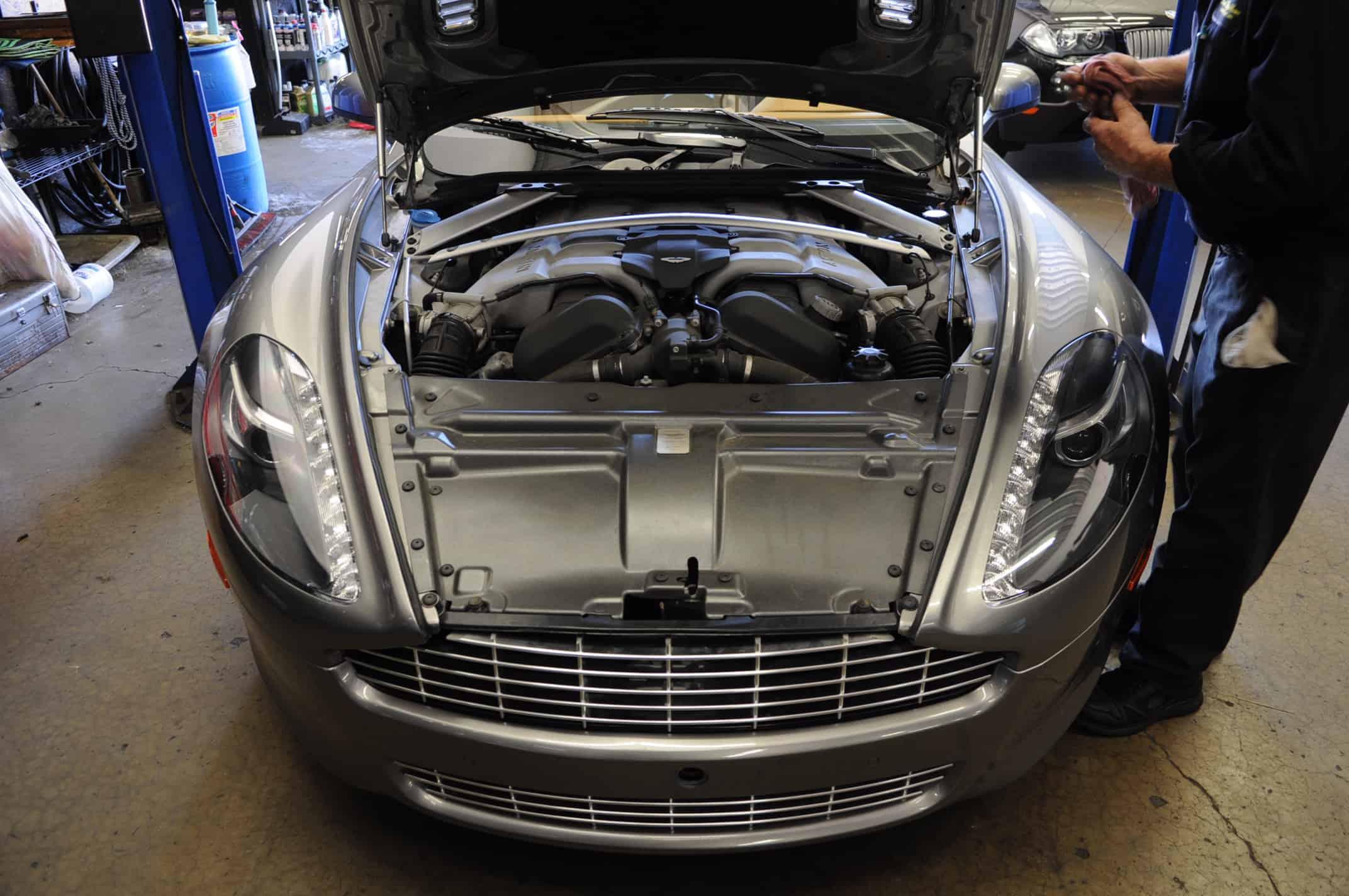 Unconventional Oil Change Aston Martin Rapide Service Luxury