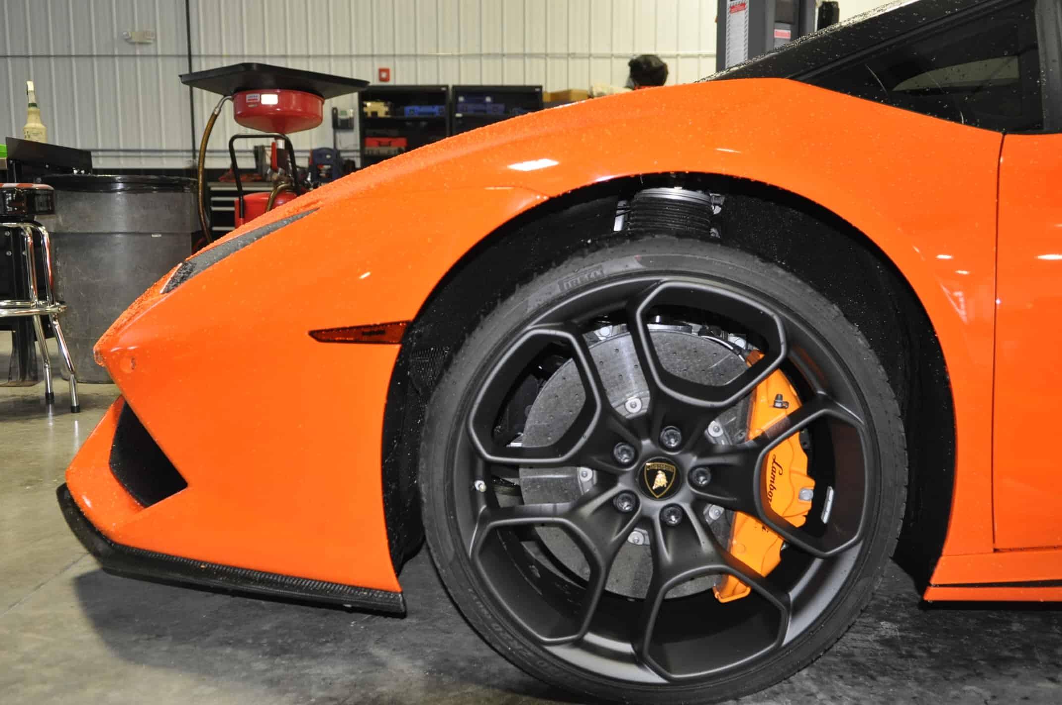 Powdercoat Lamborghini Naperville Orange Service Chicago drivers