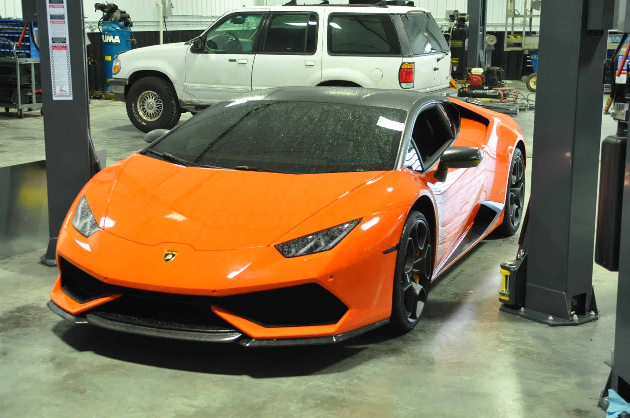 Powdercoat Lamborghini Naperville Orange Service Chicago repair