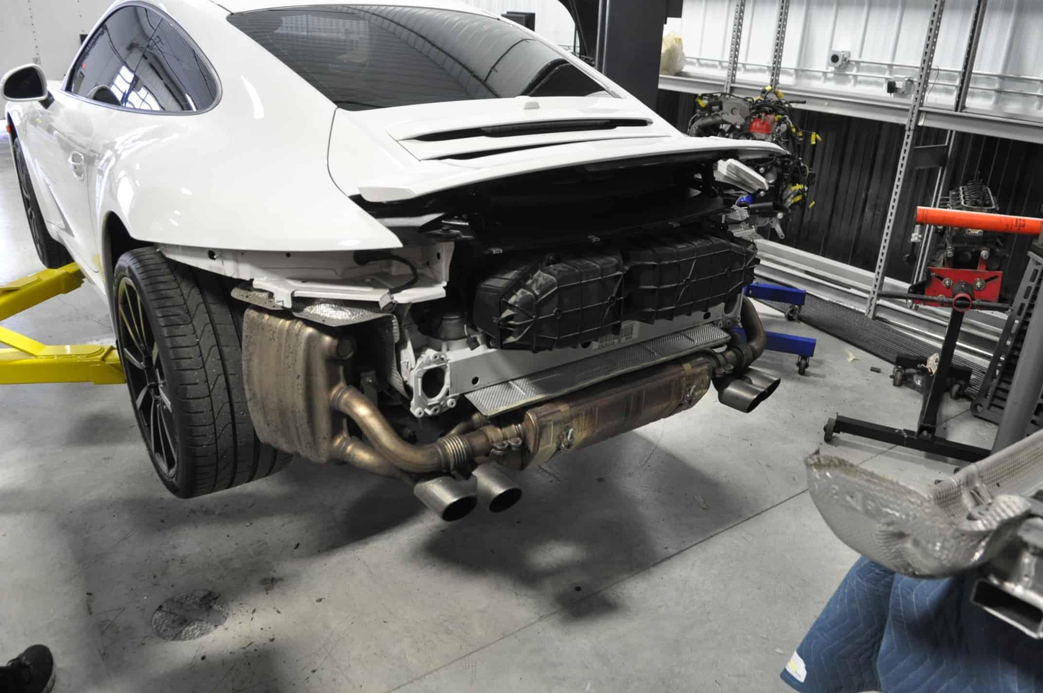 993 991 Porsche custom fabricated exhaust factory exhaust Luxury