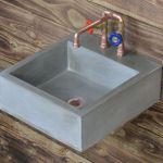 Concrete Basins Bathroom Sinks Wall Mounted Vanity Tops London