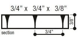 shallow parabolic louver diagram