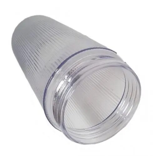 prismatic cylinder threaded plastic jelly jar light cover diffuser
