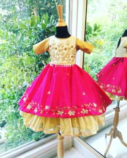 Zola embellished ethnic dress for kids