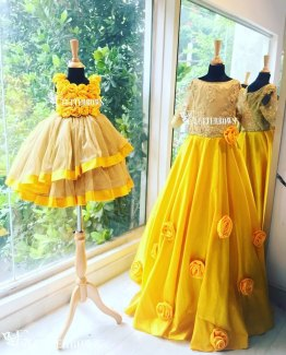 Mom and daughter dresses