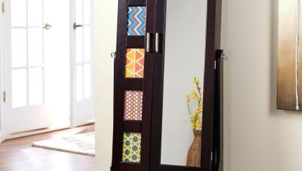 Free Standing Mirror Jewelry Armoire Home Inspirations Wooden Standing Mirror Jewelry Armoire