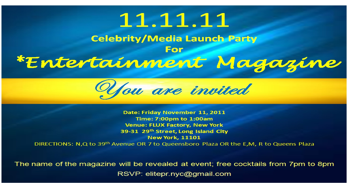Launch Of Entertainment Magazine
