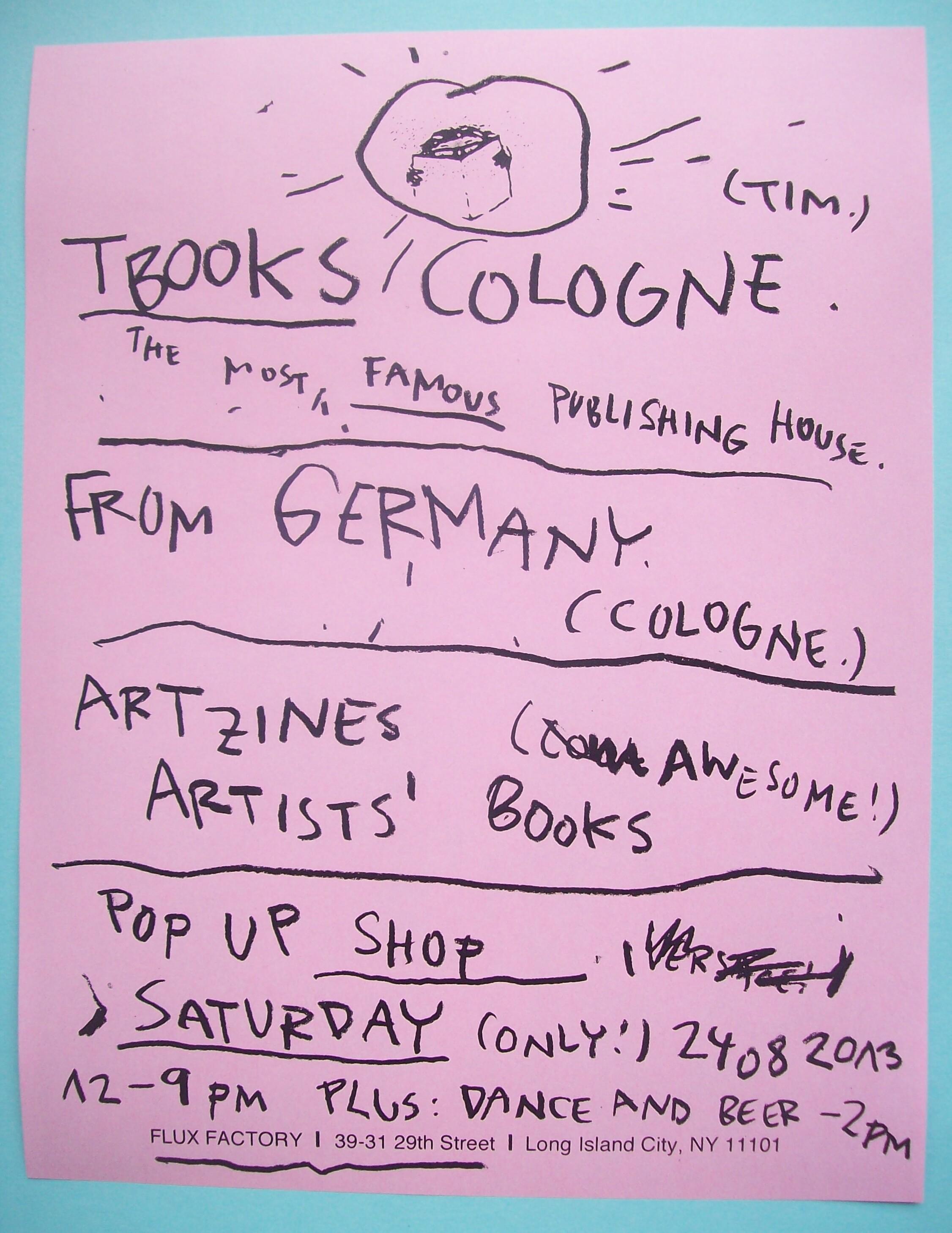 TBOOKS COLOGNE Pop Up Shop