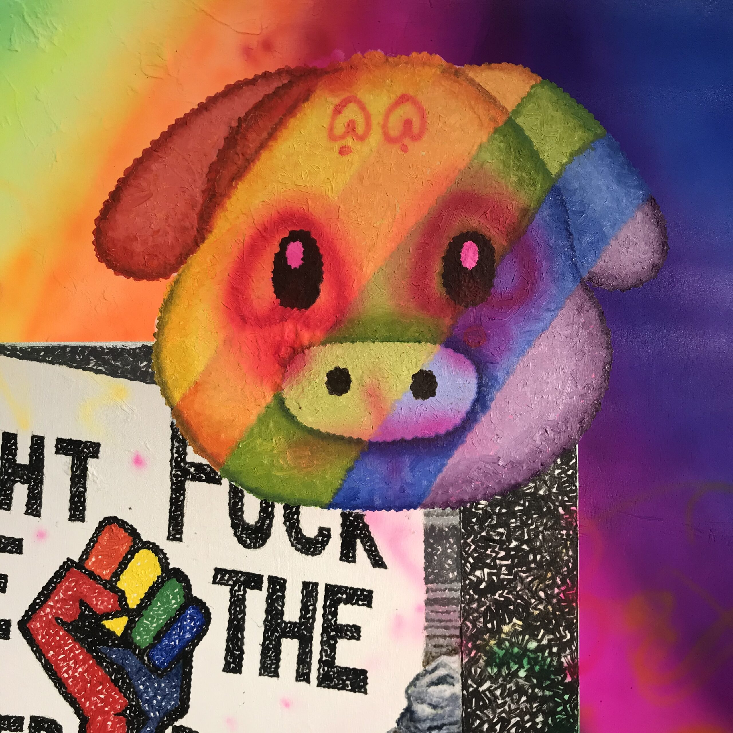 12. a Fight the Power, F*ck the Police meme (detail)