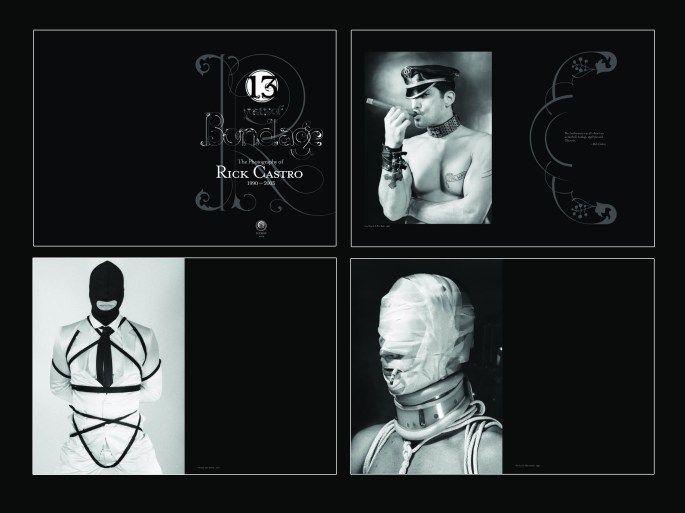 """""""13 Years of Bondage"""", 2004, Rick Castro, selected page spreads"""