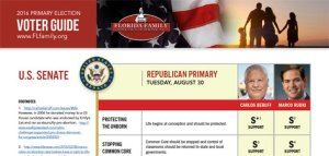 Florida Family Policy Council US Senate Voter Guide