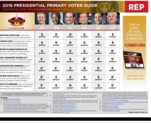 2016 Florida Family Policy Council Presidential Preference Voter Guide