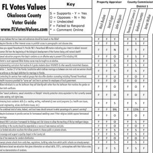 2016 Okaloosa County FL Primary Local Voter Guide JPG Image