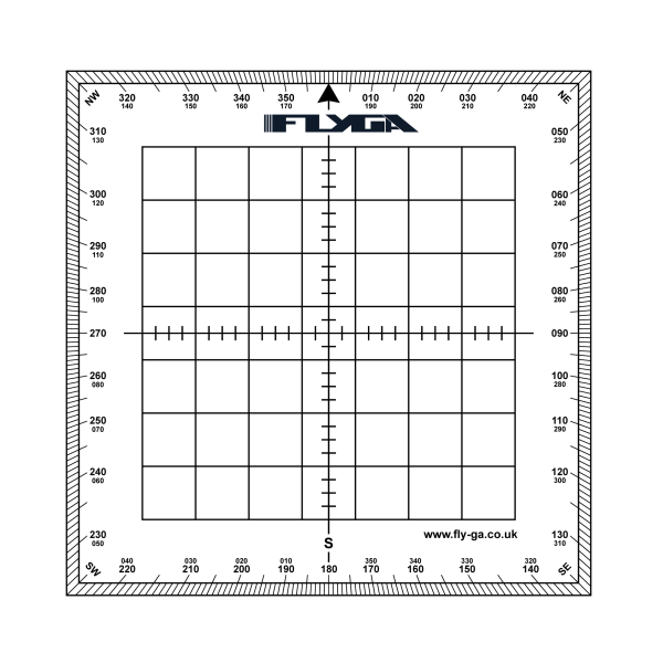 Flight Navigation Protractor (Square, Topographical Map Reading, Aviation)