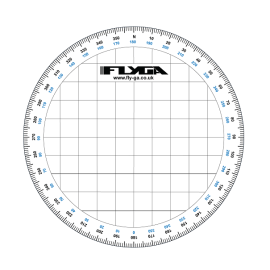 Flight Navigation Protractor (Circle, Topographical Map Reading, Aviation)