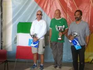 il podio del Campionato classe club di acrobazia aerea in aliante